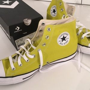 High Top Converse. Men's (10.5). Women's (12.5)